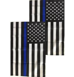 Thin Blue Line Garden Flags 12x18 - 2 Pack - Small Police Am