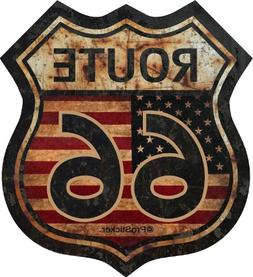 """ProSticker 825  5"""" Route 66 Series Junk Yard Flag Decal Stic"""