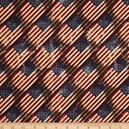 Santee Print Works Made in the USA Antique Flags RedBlue Ant