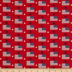 Santee Print Works Made in the USA Flags & Stars Red White B