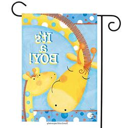 "It's A Boy Garden Flag Baby Shower Giraffes Welcome 12.5""x18"