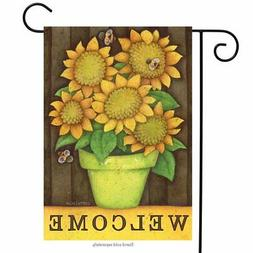 Autumn Buzz Welcome Garden Flag Sunflowers Fall Briarwood La
