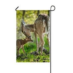 WilBstrn Deer Mother And Its Children Home Decorative Outdoo
