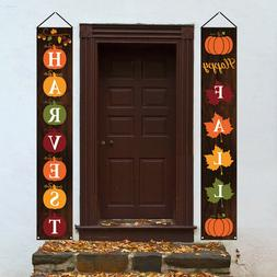 Fall Decorations - Happy Fall Yard Large Hanging Flags Signs