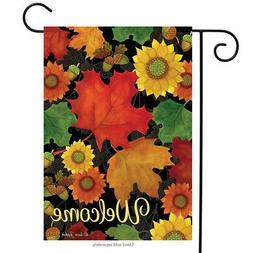 Briarwood Lane Fall Foliage Welcome Garden Flag Autumn Leave
