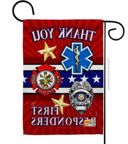 First Responders Thank you Garden Flag All Branches Military