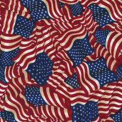 Flag Fabric, BTY, American Pride Wavy Flag, PBS 112-30572, T