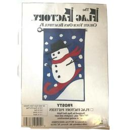 Flag Factory Frosty Flag Pattern # 63834 Snowman Winter 28""