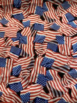 Flags FLAGS American Flags Fabric By the Half Yard 100% Cott