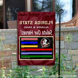 FSU Seminoles Salute Our Heroes Garden Flag and Yard Banner