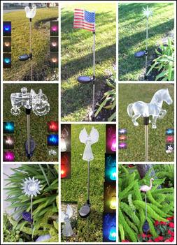 Garden Decoration Solar Powered Color Changing Yard Lawn Pat