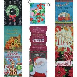 Garden Flag Mini Yard Banner 14 Different Assorted 2 Sided D