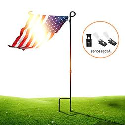 SSRIVER Garden Flag Stand Pole Holder with Garden Flag Stopp