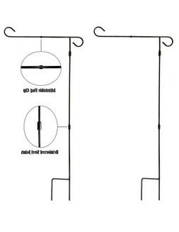 "Garden Flag Pole Stand - 2 Pack - 36"" Tall by 16"" Wide - Dis"