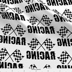 Spoonflower Goal Fabric Racing Flag by Stofftoy Printed on B