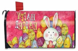 Happy Easter Magnetic Mailbox Cover Bunny Chick Holiday Bria