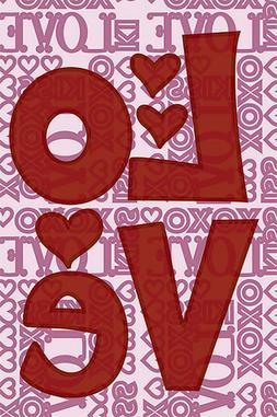 Morigins Happy Valentine Day Red Love Word Decor Double Side