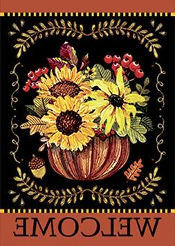 Morigins Home Decorative Happy Fall Garden Flag Double Sided