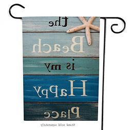 Dyrenson Home Decorative Quote the Beach is My Happy Place O