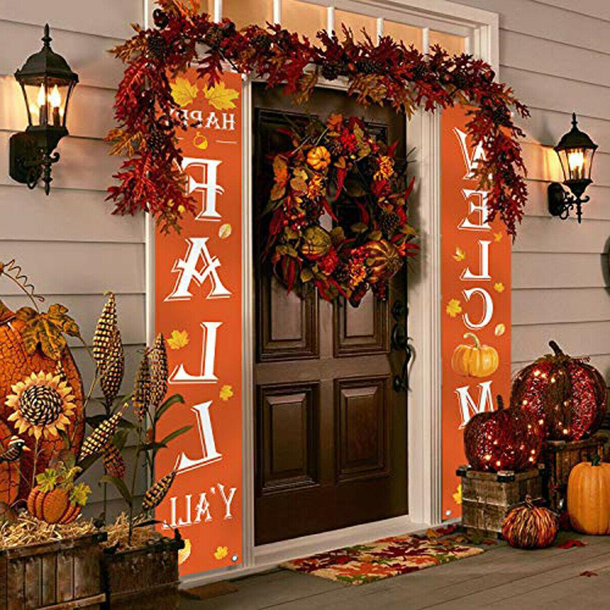 Fall Happy Fall Yard Hanging Flags