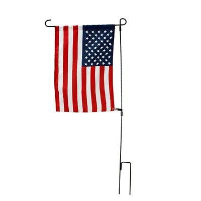 Garden Flag Pole Iron Outdoor Yard Flags Stand Holder Banner