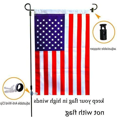 "Garden Stand-Holder-Pole Garden Anti-Wind 36.3""H 16.5""W For Flag Or Season Keep Flags Flying Away in Winds"