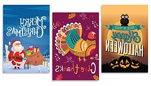 Flag | Set 12 Artistically Flags Holiday Double-Sided