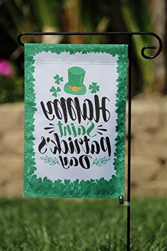 Happy Flag Set Outdoors | Artistically Designed | 12-inch x Holiday Themed, Double-Sided