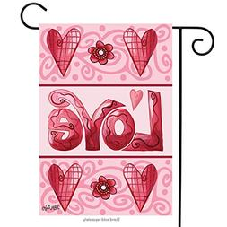 Love Hearts Valentine's Day Garden Flag Briarwood Lane 12.5""
