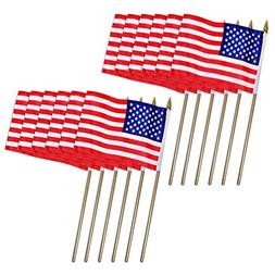 Universal Souvenir Mini USA Patriotic American US Stick Flag