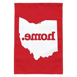 Graphics and More Ohio OH Home State Solid Red Officially Li