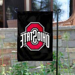 OSU Buckeyes Black Garden Flag and Yard Banner