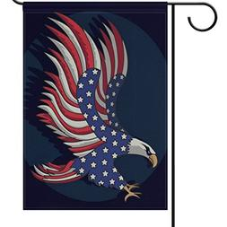 ALAZA Patriotic Eagle Garden Flag Yard Decoration, 4th Of Ju