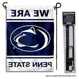 Penn State Nittany Lions WE ARE Garden Flag with Stand Holde