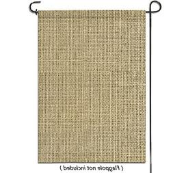 HBlife Personalized Blank Burlap Garden Flag Happy Camper Ba