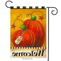 Pumpkin Autumn Welcome Primitive Garden Flag Fall Briarwood