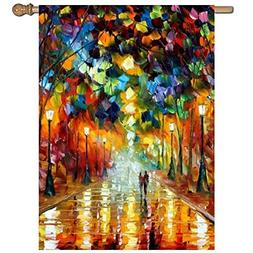 Dolores Joule Rian Oil Garden Flag Banner One Sided Polyeste