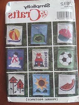 SEWING PATTERN SIMPLICITY 7612 YARD GARDEN WELCOME FLAG GOLF