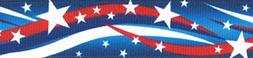 Country Brook Design 5/8 Inch Star Spangled Grosgrain Ribbon