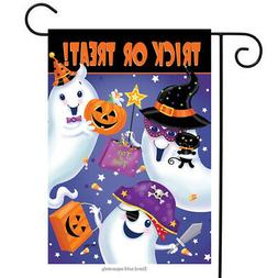 Briarwood Lane Trick or Treat Halloween Garden Flag Ghosts C