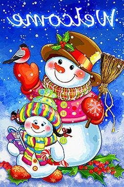 Morigins Welcome Candy Gift Snowman Double Sided Winter Holi