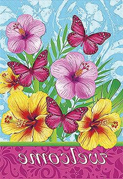 Morigins Welcome Fabulous Flowers Decorative Spring Double S