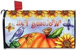 Briarwood Lane Welcome Fall Pumpkin Magnetic Mailbox Cover A