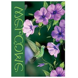 Morigins Welcome Hummingbirds Double Sided Decorative Spring