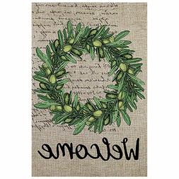 Morigins Welcome Olive Wreath Double Sided Summer Yard Garde