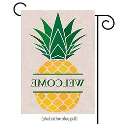 Welcome Pineapple Garden Flag| Double-sided, Great Design Ya