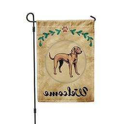 Welcome VIZSLA DOG Yard Patio House Banner Garden Flag w Iro