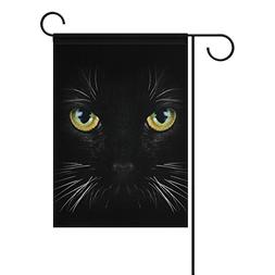 ALAZA Yard Flag Home Decor 28x40 Inch,Black Cat Double-Sided